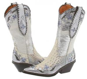 white designer cowboy boots