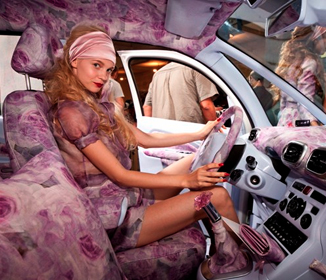 Pink car accessories for girls
